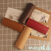 韓國小清新簡約學生便攜創意個性純色可愛復古優雅眼鏡盒  enjoy精品