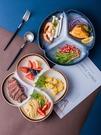 日式餐盤陶瓷分格盤子家用分隔餐具創意碟子...