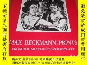 二手書博民逛書店2手英文罕見Max Beckmann Prints 馬克斯貝克曼