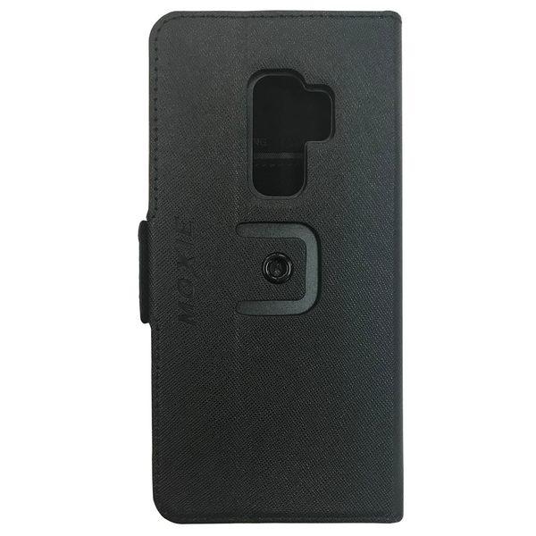 Moxie X-Shell 360° Samsung S9+ / 摩新360度旋轉S9+防電磁波手機套 十字紋 皮套 黑色