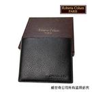 【Roberta Colum】諾貝達 男用皮夾 短夾 專櫃皮夾 進口軟牛皮短夾(黑色-24003)【威奇包仔通】