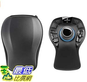 [9美國直購] 3D無線滑鼠 3Dconnexion SpaceMouse Pro Wireless (with Carry case and Universal Receiver) 3DX-700075