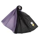 Sybilla拼色抗UV純綿薄圍巾(紫黑色)989401-D