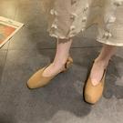 平底單鞋女蝴蝶結新款夏季方頭