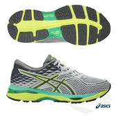 ASICS亞瑟士 女慢跑鞋 (灰綠) GEL-CUMULUS 19 女慢跑鞋 包覆性.高緩衝慢跑鞋款 T7B8N-9697【 胖媛的店 】