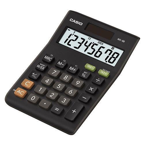 CASIO 桌上小型8位數計算機MS-8B【KO01018】99愛買生活百貨