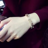 珍珠手鍊韓版簡約首飾學生手環歐美個性手飾百搭韓國小清新手鐲女 〖korea時尚記〗