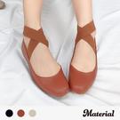包鞋 鬆緊繞踝平底包鞋 MA女鞋 T32...