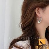 耳環簡約復古個性小眾設計感朋克十字架c形女潮【慢客生活】