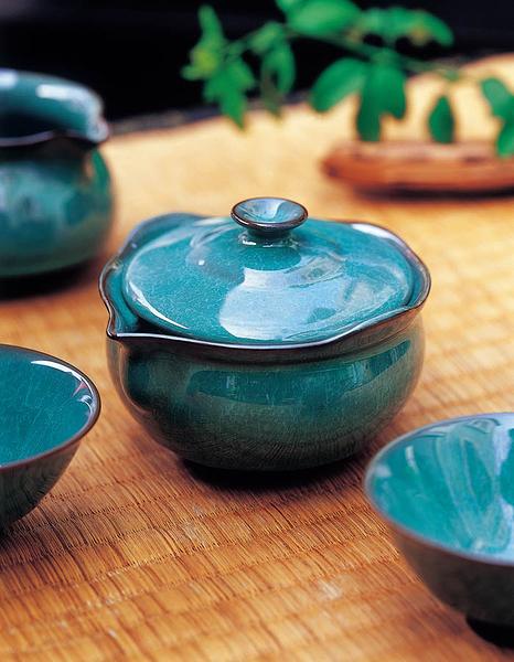 翠玉如意壺-(200ml) 泡茶器 茶壺 花茶壺 陶瓷壺 泡茶 現貨