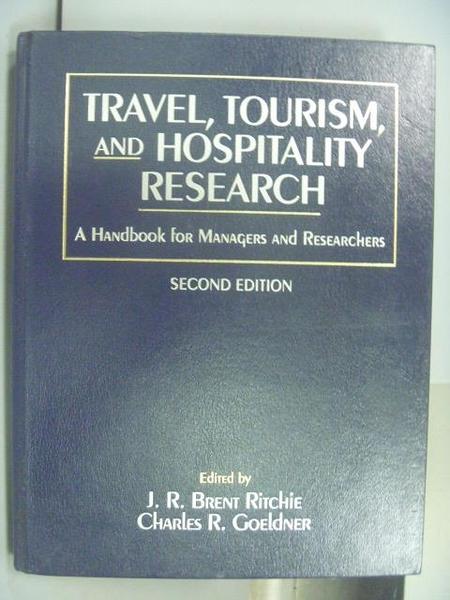 【書寶二手書T2/大學藝術傳播_QMI】Travel, Tourism, and Hospitality Researc