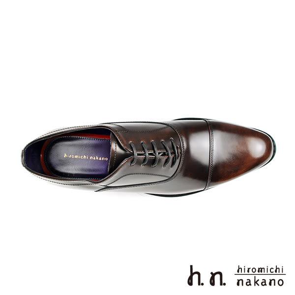 【hiromichi nakano】復古刷色橫飾牛津鞋 深咖(H409-DBR)