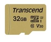 創見 32GB 500S microSDXC UHS-I U3 V30 記憶卡 (附轉卡)