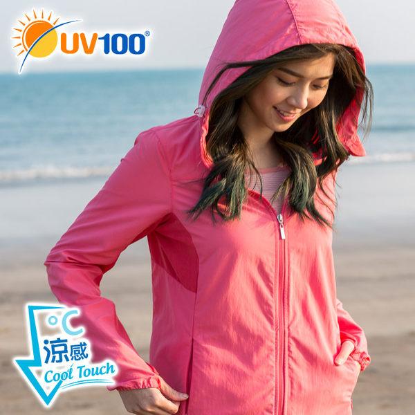 快速出貨 UV100 防曬 抗UV-涼感連帽修身外套-彈力剪接