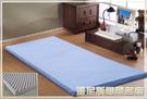 【班尼斯國際名床】~【3.5x6.2呎x6cm單人加大波浪惰性記憶矽膠床墊(日本原料)~附3M鳥眼布套】
