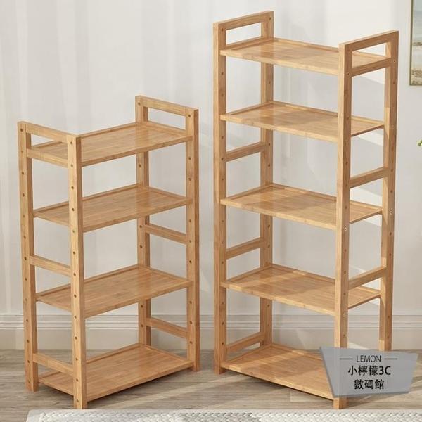 置物架簡易客廳書架臥室房間收納儲物架木隔板落地層架【小檸檬3C數碼館】