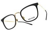MOLSION 光學眼鏡 MJ6072 B10 (黑-金) Angelababy代言 摩登時尚方框款 眼鏡框 #金橘眼鏡