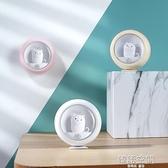 新款創意人體感應夜貓子小夜燈 萌寵貓咪臥室氛圍燈USB櫥柜壁掛燈
