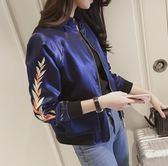 棒球外套   原宿風新款2018刺繡棒球服小外套韓版短款開衫夾克
