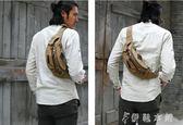 胸前包 包包男士手機腰包大容量運動胸包戶外休閒帆布包多功能斜背包男包 伊鞋本鋪