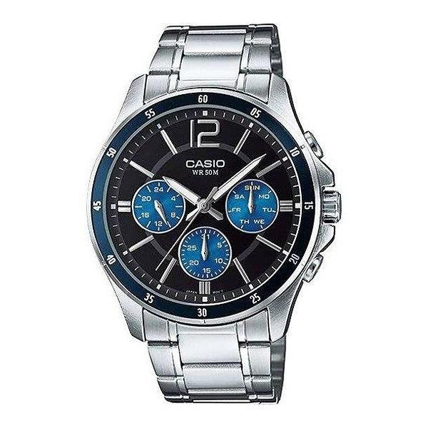 有發票 實體店面 附台灣卡西歐保卡才是公司貨【時間光廊】CASIO 卡西歐 三眼錶 MTP-1374D-2A 防水
