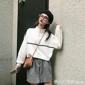 寬鬆短款立領衛衣女ins潮秋裝新款韓版網紅百搭套頭薄款長袖上衣 年終大酬賓