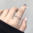 情侶戒指 PINKYPIG 別針戒指土酷情侶創意設計潮蹦迪簡約個性食指