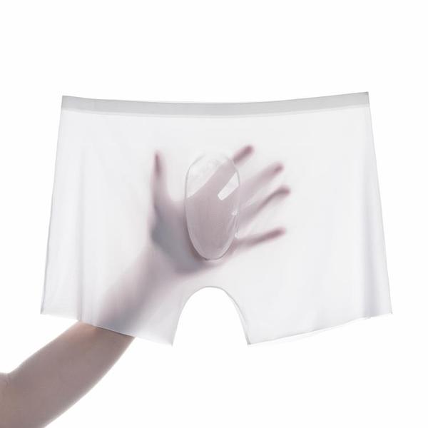 特賣 網紅爆款男士內褲冰絲四角褲一片式無痕超薄3D速干平角褲潮男