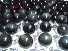 『晶鑽水晶』頂級4A彩虹雙面黑曜石球21mm墨西哥當地精緻研磨*帶雙眼*天地眼