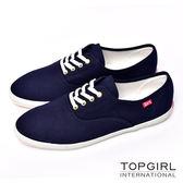TOP GIRL 繽紛糖果甜心帆布鞋-女(丈青色)