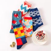 男性襪子  民族風男女中長滑板時尚美時襪子街頭長筒尚春棉襪 珍妮寶貝