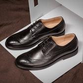 短靴真皮-繫帶英倫巴洛克雕花擦色男靴子3色73kk85【巴黎精品】