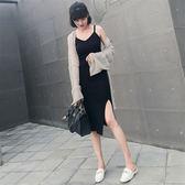 【618好康又一發】連身裙女中長款小心機裙子顯瘦打底背心裙