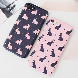 韓國 小兔子 硬殼 手機殼│iPhone 6 6S 7 8 Plus X XS MAX XR 11 Pro LG G7 G8 V40 V50│ z7980