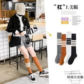 3雙裝 小腿襪子女中筒薄款瘦腿長筒襪過膝高筒長襪【時尚大衣櫥】