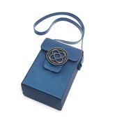 Petite Jolie  經典徽章掀蓋相機包-蔚藍色