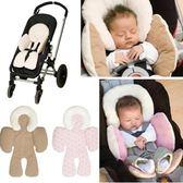 寶寶護頭墊 新生嬰兒推車枕頭棉墊子坐墊保暖墊 頭部身體保護靠墊【極有家】