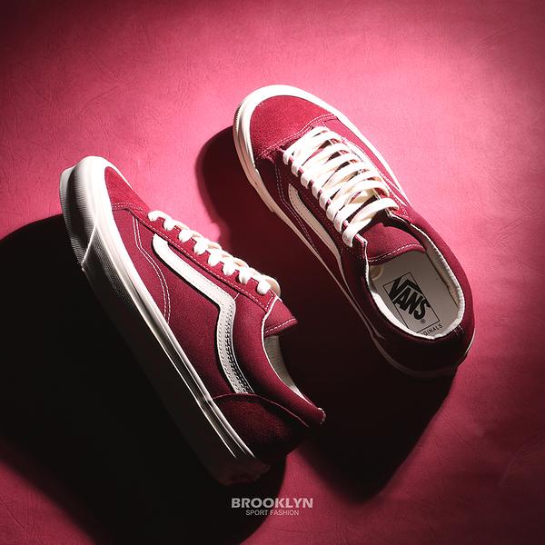 VANS 休閒鞋 板鞋 VAULT OG STYLE 36 LX 酒紅 男女 (布魯克林) VN0A4BVE9X7