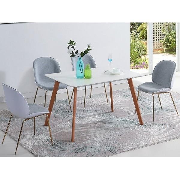 餐桌 CV-748-1 富田白色餐桌 (不含椅子) 【大眾家居舘】