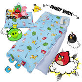 憤怒鳥 搗蛋轟炸 藍 兒童睡袋 標準 台灣製 超取限一顆