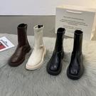 瘦瘦靴女2021年春秋新款夏季薄款單靴馬丁靴子秋季中筒英倫風短靴 初色家居館