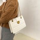 女款簡約托特包 鎖扣時尚大容量女包大包 小衆設計手提包 女款單肩斜挎包 菱格鏈條女生托特包