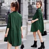 風衣外套-新款韓版休閒薄款小個子風衣女式中長款寬鬆春初秋季長袖外套 Korea時尚記