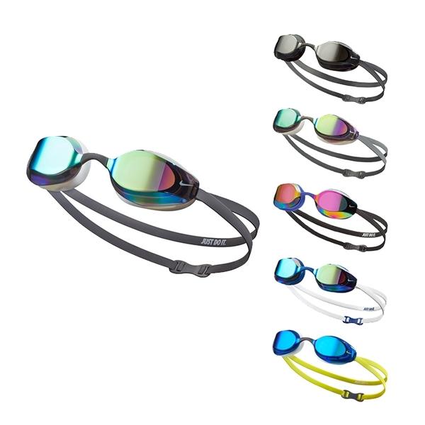 NIKE VAPOR 成人專業型鏡面泳鏡 抗UV 防霧鏡片 超廣角 可調鼻架 NESSA176 【樂買網】