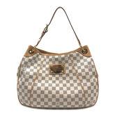 【台中米蘭站】全新品 Louis Vuitton 棋盤格帆布南瓜包肩背包-PM (N55215-白)