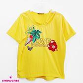 【SHOWCASE】銀環造型圓領亮片印花個性T恤(黃)