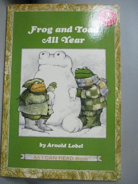 【書寶二手書T8/原文小說_YIC】Frog and Toad All Year_Lobel, Arnold