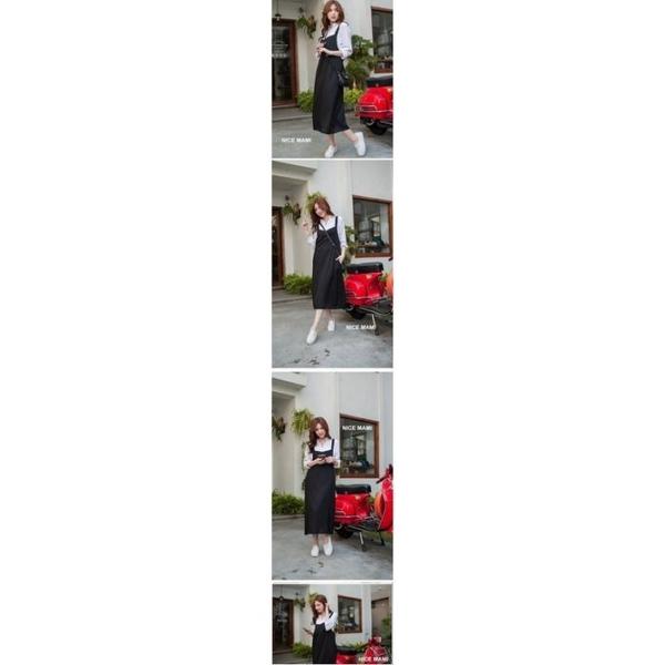 漂亮小媽咪 獨家訂製款洋裝 【D8602T】 開叉 口袋 寬鬆 孕婦 長裙洋裝 孕婦裝 背心裙 吊帶裙