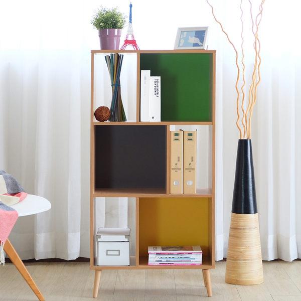 芙瑞特 六格三層櫃 簡約色塊 開放式 收納櫃 衣櫃 書櫃 (附實木腳)【YV9115】HappyLife
