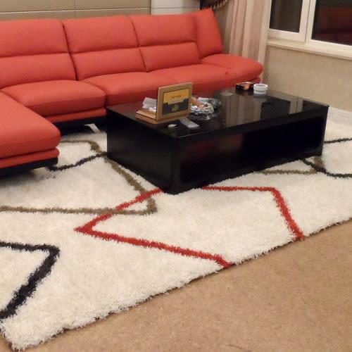 范登伯格 美諾斯 進口超現代設計長毛地毯/地墊-相勾-200x290cm
